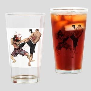 Muay Thai Kick Drinking Glass