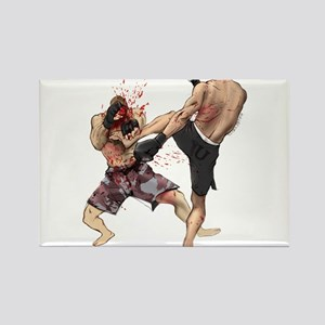 Muay Thai Kick Rectangle Magnet
