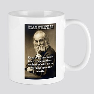 Each Of Us Inevitable - Whitman 11 oz Ceramic Mug
