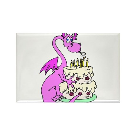 Pansy the Dragon Rectangle Magnet