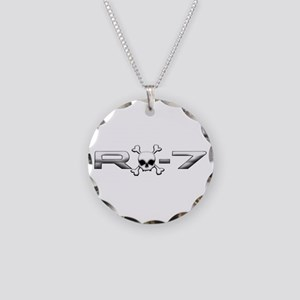 RX-7 Skull Necklace Circle Charm