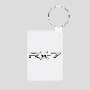 RX-7 Skull Aluminum Photo Keychain