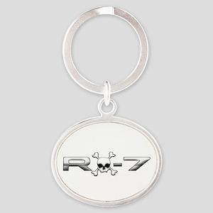 RX-7 Skull Oval Keychain