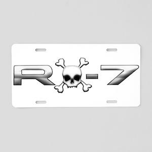 RX-7 Skull Aluminum License Plate
