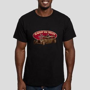 In rust we trust Men's Fitted T-Shirt (dark)