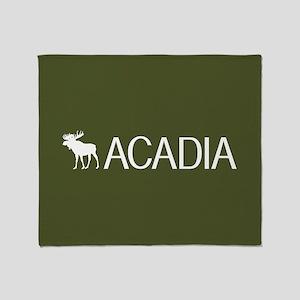 Acadia Moose Throw Blanket