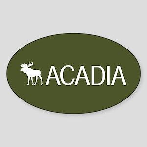 Acadia Moose Sticker (Oval)