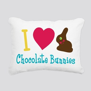 2-ILoveChocolateBunnies Rectangular Canvas Pil