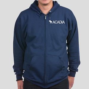 Acadia Moose Zip Hoodie (dark)