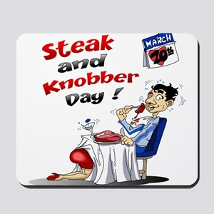 Steak and Knobber Day Logo Mousepad