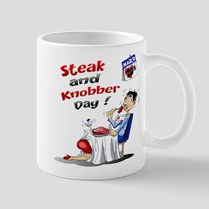 Steak and Knobber Day Logo Mug