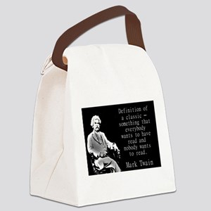 Definition Of A Classic - Twain Canvas Lunch Bag