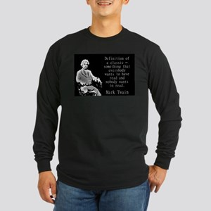 Definition Of A Classic - Twain Long Sleeve T-Shir
