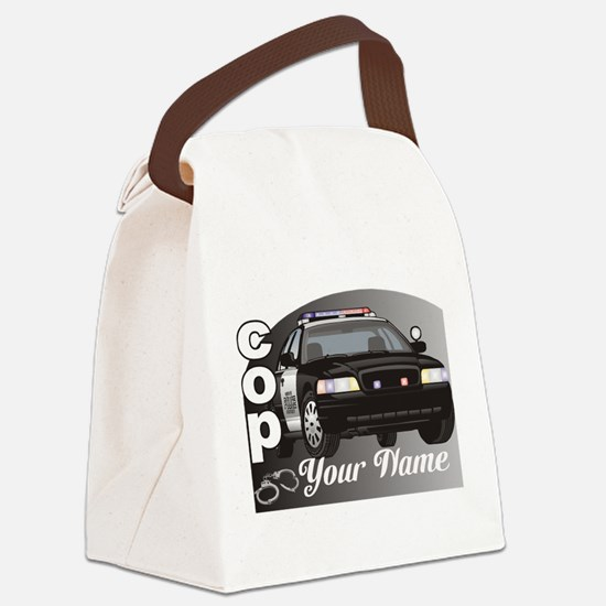 Custom Personalized Cop Canvas Lunch Bag