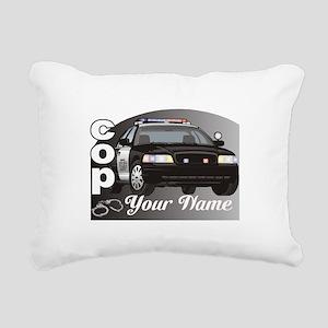 Custom Personalized Cop Rectangular Canvas Pillow