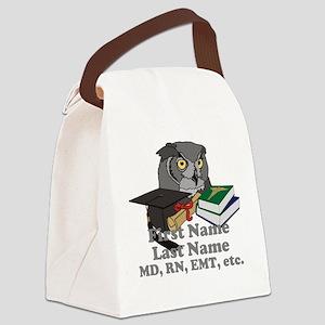 Custom Owl Medical Graduate Canvas Lunch Bag