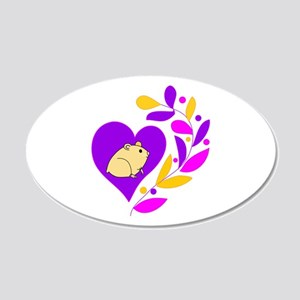 Hamster Heart 20x12 Oval Wall Decal