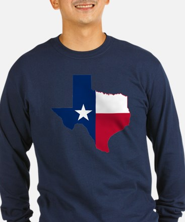 Texas Flag Map - T