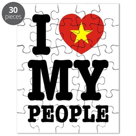 I Heart (Love) My Viet People Puzzle
