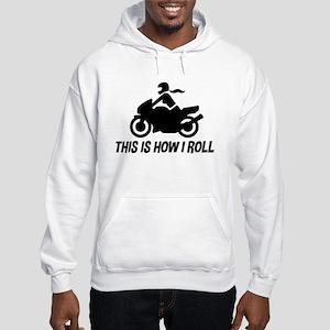 Female Motorcyclist Hooded Sweatshirt