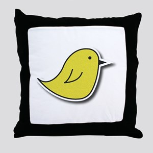 Vox Yellow Bird Throw Pillow