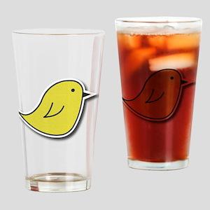 Vox Yellow Bird Drinking Glass
