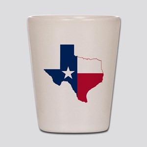 Texas Flag Map Shot Glass