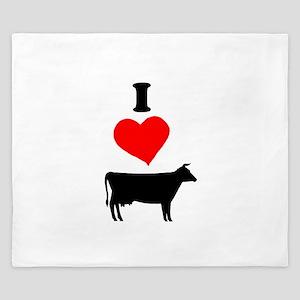 I heart Cow King Duvet