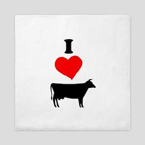 I heart Cow Queen Duvet