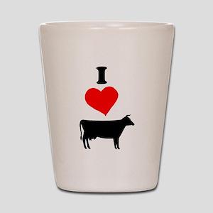 I heart Cow Shot Glass