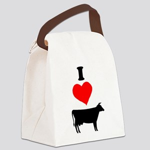 I heart Cow Canvas Lunch Bag
