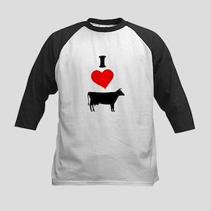 I heart Cow Baseball Jersey