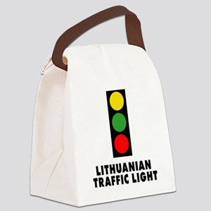 Lithuanian Traffic Light Canvas Lunch Bag