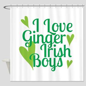 Ginger Irish Boys Shower Curtain