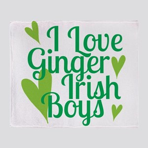Ginger Irish Boys Throw Blanket