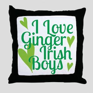 Ginger Irish Boys Throw Pillow