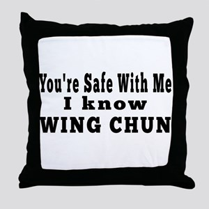 I Know Wing Chun Throw Pillow