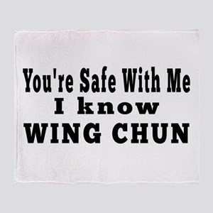 I Know Wing Chun Throw Blanket