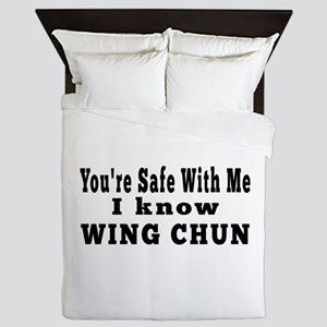 I Know Wing Chun Queen Duvet