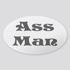 Ass Man Sticker (Oval)