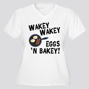 Bacon And Eggs Women's Plus Size V-Neck T-Shirt