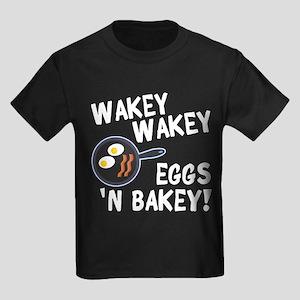 Bacon And Eggs Kids Dark T-Shirt