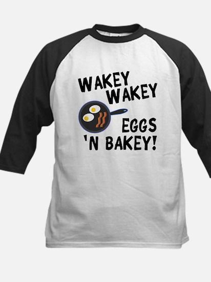 Bacon And Eggs Kids Baseball Jersey