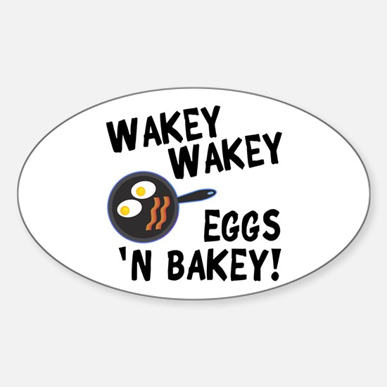 Bacon And Eggs Sticker (Oval)