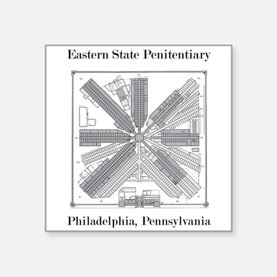 Eastern State Penitentiary Map Sticker