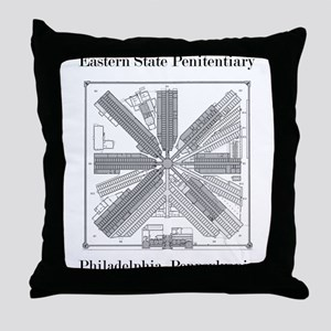 Eastern State Penitentiary Map Throw Pillow