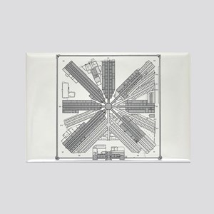 Eastern State Penitentiary Map Rectangle Magnet