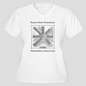 Eastern State Penitentiary Map Plus Size T-Shirt
