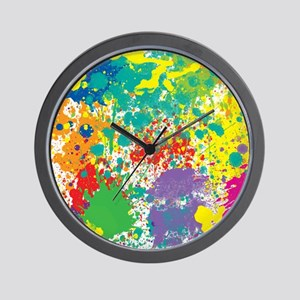 Colorful Splatter Wall Clock