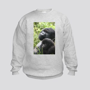 Mountain Gorilla Father Son Sweatshirt
